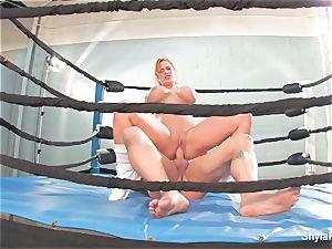 big-chested blonde Shyla Stylez does some hardcore instructing