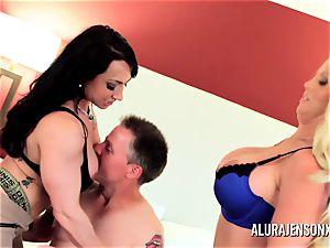 cougar detective Alura Jenson threesome hookup
