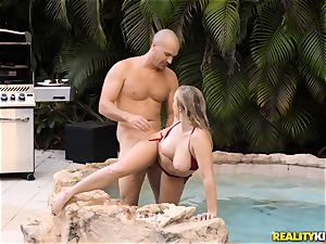 Bailey Brooke outdoor pool man-meat cocksucker