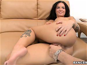 Smoking super-fucking-hot black-haired Christy Mack riding shaft