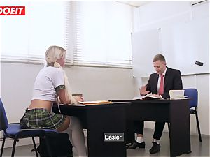 LETSDOEIT - French schoolgirl plowed hard-core At the GYM