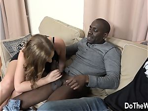 Swinger wife Chrissy curves anal hotwife bi-racial