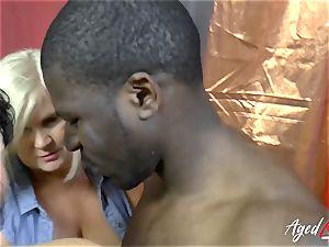 AgedLovE Lacey Starr bi-racial hard-core activity