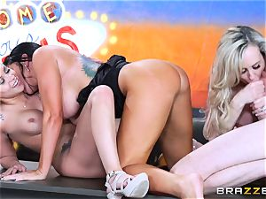 warm messy joy with Brandi love and her nymphs