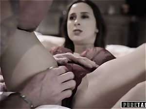 unspoiled TABOO 18yo Ashley Sins Against mom to sate dad