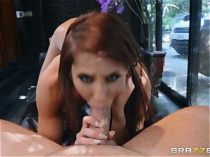 Madison Ivy gets her vulva sated by draped Kieran