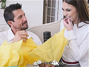 TINY4k Step daughter Riley Reid uses fathers day gift