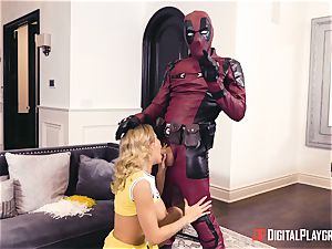 Jessa Rhodes gets humped by dangled superhero