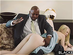 BLACKED obedient gf punished by 2 ebony guys