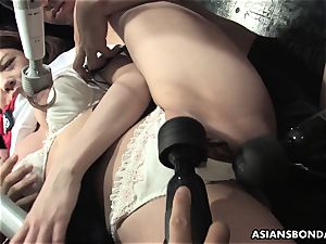 subjugated gal Aoi Yuuki got her cupcakes and puss toyed