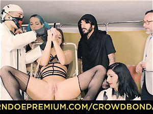 CROWD restrain bondage obedient Amirah Adara very first time sadism & masochism