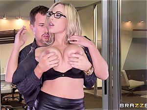 Julia Ann and Olivia Austin pummel the chief together