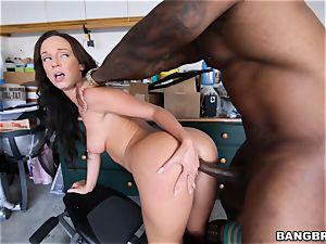black sausage catapulting Jada Stevens