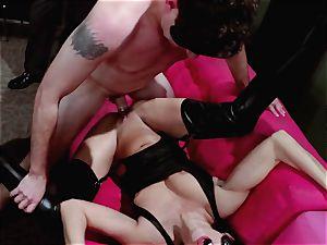 men see on as Britney Amber and Nikki Daniels gang plumb
