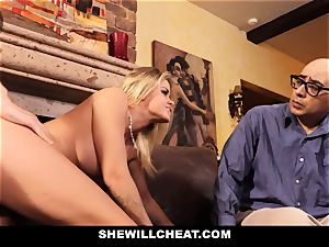 cheating hubby watches Wifes honeypot Get wrecked