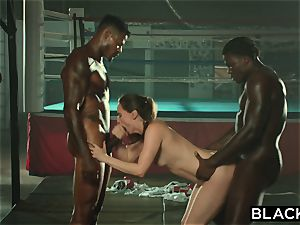 BLACKED Tori dark-hued Is oiled Up And dominated By two BBCs