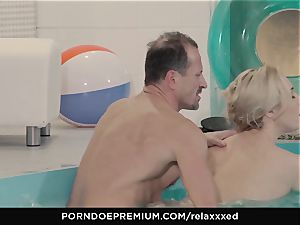 RELAXXXED - Victoria Summers jizm adorned in spa tear up
