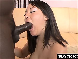 asian babe Tina Lee takes an assfuck rail
