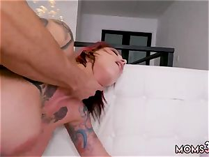 mommy footjob deep throat and 3 gigantic tit cougar Making My Step-Mom bust
