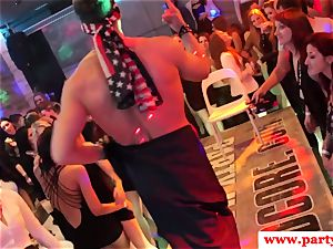 dickblowing euro stunner tugging man rod at party