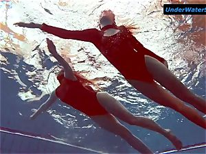 2 scorching teenagers underwater