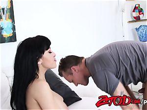 Oriental sweetheart Jayden Lee fucked to climax