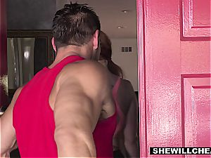 SheWillCheat - super-hot curvy wifey plumbing private Trainer