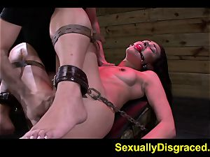 slave Ava Kelly hooked on drill machine