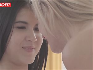 LETSDOEIT - super-naughty sapphic teens Get horny At The Gym