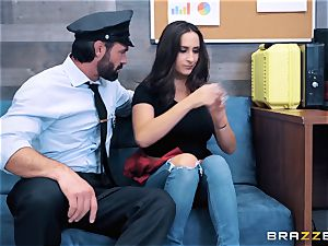 Ashley Adams takes on cop shaft