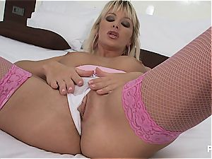 She takes the dildo all the way