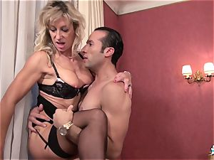 LaCochonne - Mature French Marina Beaulieu plowed stiff
