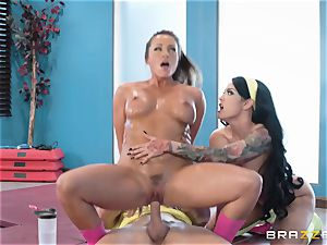 torrid gym puss ravage with stunners Abigail Mac and Katrina Jade