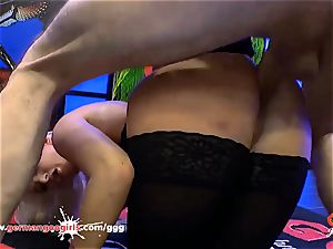 stunning Daisy Lee in German Goo ladies cum adorned