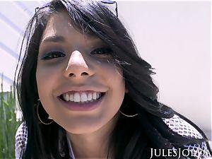 Jules Jordan - Gina Valentina's very first ass fucking