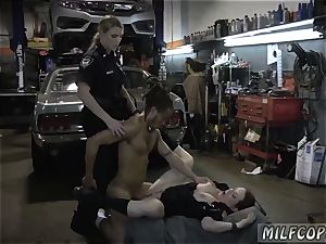 blonde milf drains in kitchen and ginormous booty black penetrated first-ever time Chop Shop possessor