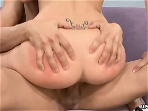 ginormous fuckpole boning the blonde stunner and cums on her bootie