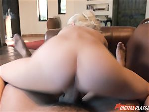 Piper Perri receives a big blast to her face by her boyfriends dad