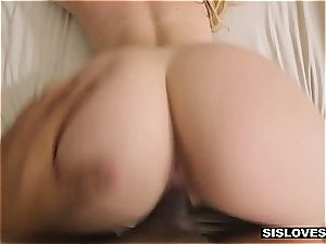 super-fucking-hot Jayden provokes her stepbro with her jiggly bum
