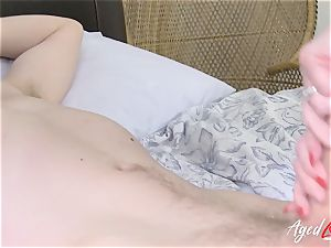 AgedLovE busty Lacey Starr gonzo and deep throat