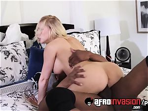 Kagney Linn Karter get a big black cock experience