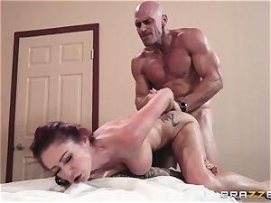 Monique Alexander filled balls deep in her tight muffhole