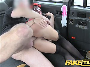 fake taxi doll in mask gets banged in the booty