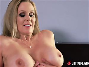fuck-a-thon with big-chested housewife Julia Ann and her stepdaughter