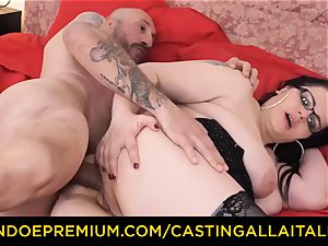 audition ALLA ITALIANA hard assfuck fuck-fest with Italian bbw