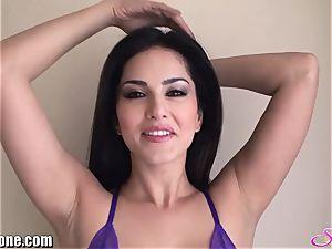 SunnyLeone Sunny Leone in mind-blowing purple underwear