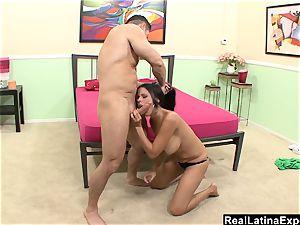 RealLatinaExposed - thick boobed Latina makes a mtf cum