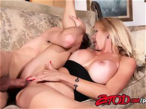 warm milf Alexis Fawx beaten rock hard