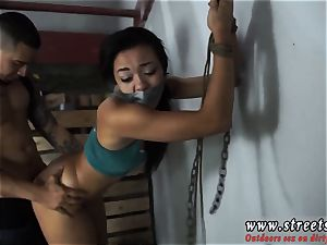 ball-gagged restrain bondage nylon Adrian Maya is a jummy piece of culo with her exotic looks and