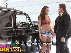 damsel fake taxi luxurious cab driver wants dual facial